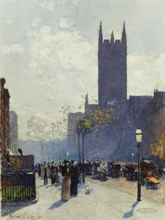Lower Fifth Avenue, 1890 by Childe Hassam