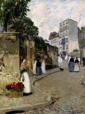 Montmartre, Paris, 1889 by Childe Hassam