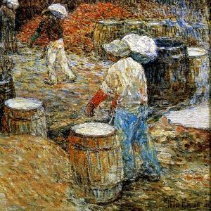 New York, Hod Carriers, 1900 by Childe Hassam