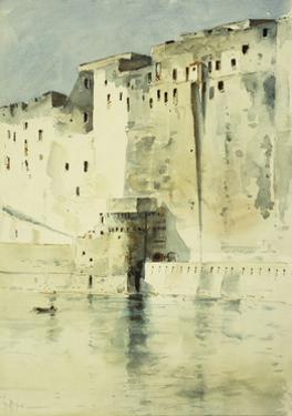 Old Fortress Naples by Childe Hassam