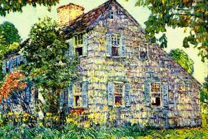 Old House, East Hampton, 1917 by Childe Hassam