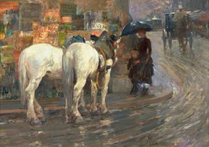 Paris Street Scene, C.1889 by Childe Hassam