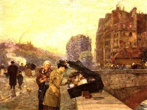 Paris, the Quai St Michel, C.1888 by Childe Hassam