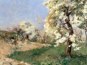 Pear Blossoms, Villiers-De-Bel by Childe Hassam