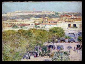 Place Centrale and Fort Cabanas, Havana, 1895 by Childe Hassam