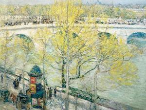 Pont Royal, Paris, 1897 by Childe Hassam