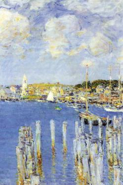 Port of Gloucester Island by Childe Hassam