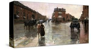 Rainy Day, Boston, 1885 by Childe Hassam
