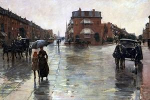 Rainy Day, Boston by Childe Hassam