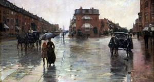 Rainy Day, Boston by Childe Hassam