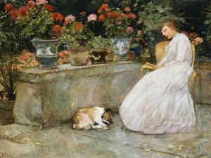 Reading, 1888 by Childe Hassam