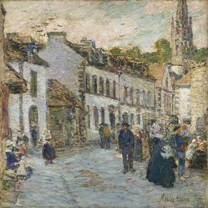 Street in Pont Aven - Evening, 1897 by Childe Hassam