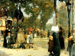 Street Scene, Paris, 1887 by Childe Hassam