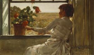 Summer Evening, 1886 by Childe Hassam
