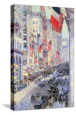 The Avenue Along 34th Street, May 1917 by Childe Hassam