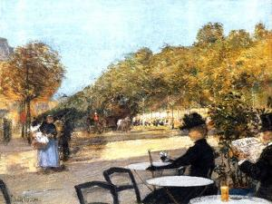 The Cafe Terrace, 1887-89 by Childe Hassam