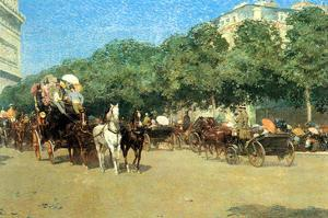 The Day of the Grand Prize [1] by Childe Hassam