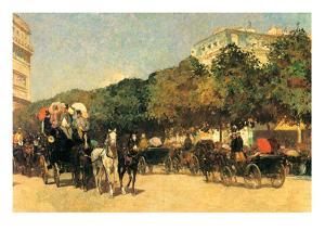 The Day of the Grand Prize [2] by Childe Hassam