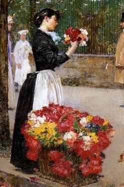 The Flower Girl, 1888 by Childe Hassam