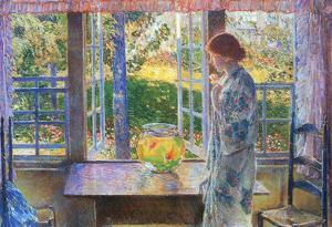 Childe Hassam The Goldfish Window Art Print Poster
