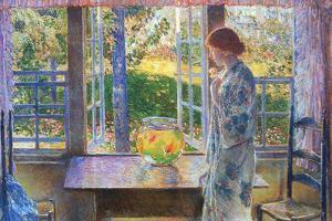 Childe Hassam The Goldfish Window