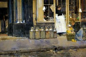 The Milk Churns, C.1888 by Childe Hassam