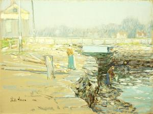 The Mill Dam, Cos Cob, 1903 by Childe Hassam