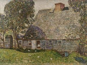 The Old Mulford House, East Hampton, 1917 by Childe Hassam