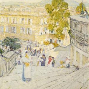 The Spanish Steps of Rome, 1897 by Childe Hassam