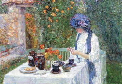 Childe Hassam The Terre-Cuits Tea Set Art Print Poster