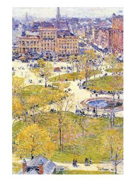 Union Square in Spring by Childe Hassam