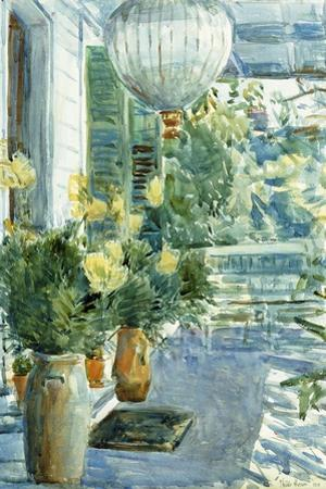Veranda of the Old House, 1912 by Childe Hassam