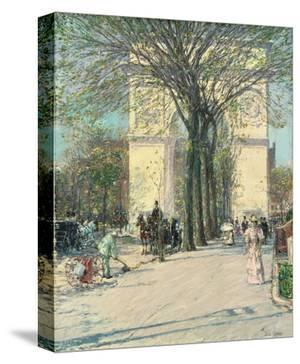Washington Arch, Spring, 1890 by Childe Hassam