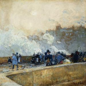 Windy Day, Paris, 1889 by Childe Hassam