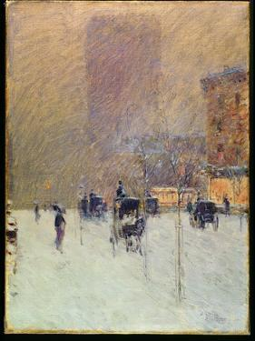 Winter Afternoon in New York, 1900 by Childe Hassam