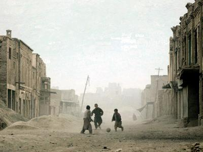 Children Play in the Old Town of Kabul, Afghanistan