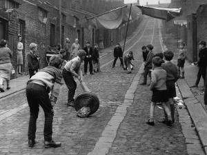 Children Playing Cricket in the Back Streets of Newcastle, 1962