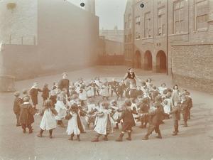 Children Playing Twinkle, Twinkle, Little Star, Flint Street School, Southwark, London, 1908