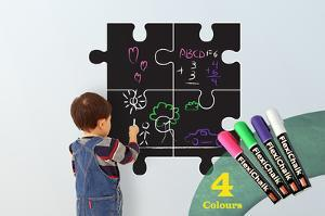 Children Puzzle Blackboard with Flexichalk Marker Neon Colour Liquid Chalks Pen