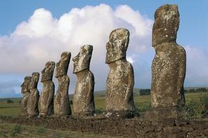 Chile, Easter Island, Rapa-Nui National Park, Ahu Akivi, Moai Statues