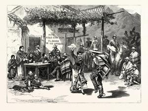 Chile: the Cueca, or National Dance; a Scene in a Roadside Inn Near Valparaiso, 1880 1881