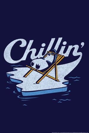 Chillin' Penguin Snorg Tees Poster