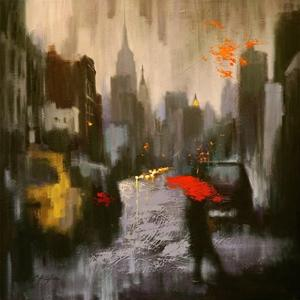 A Rainy Day Walker by Chin H. Shin