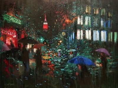 Night Rain in NY by Chin H. Shin