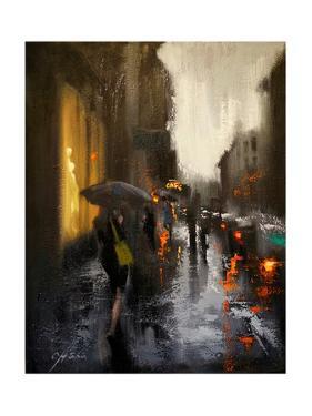 Village Cafe in Rain by Chin H. Shin