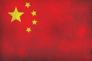 China Flag Distressed Art Print Poster