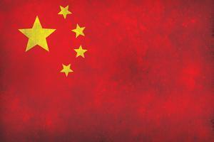 China Flag Distressed
