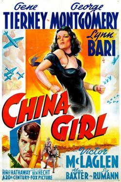 China Girl, Gene Tierney, George Montgomery, 1942