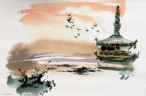 China Landscape With Pagoda