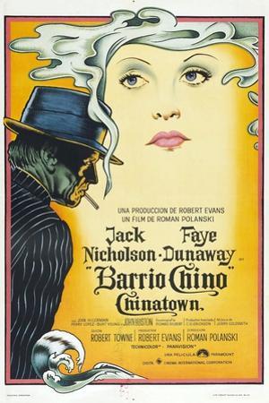 Chinatown, (AKA Barrio Chino), Argentinan Poster, L-R: Jack Nicholson, Faye Dunaway, 1974